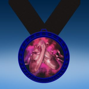 Dance 2 Blue Colored Insert Medal