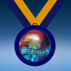 Decathalon Blue Colored Insert Medal