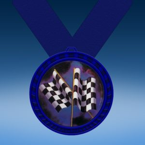 Derby Blue Colored Insert Medal
