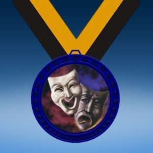 Drama Blue Colored Insert Medal