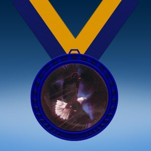 Eagle Blue Colored Insert Medal