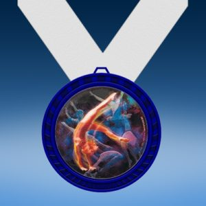 Gymnastics Female Blue Colored Insert Medal