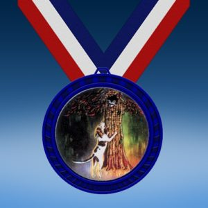 Hunting Blue Colored Insert Medal