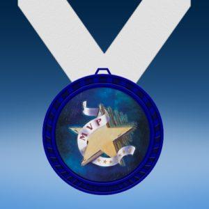 MVP Blue Colored Insert Medal
