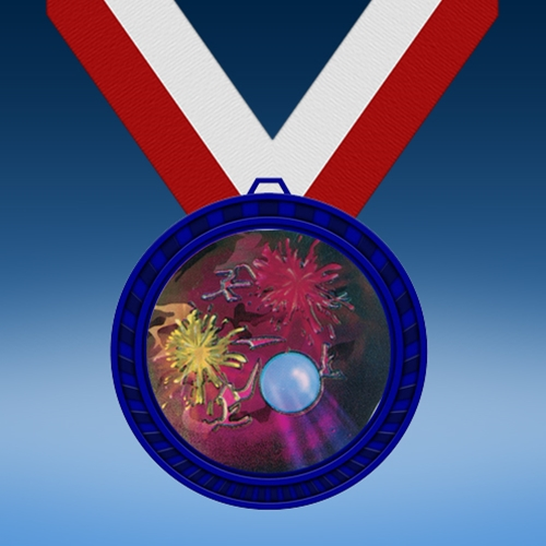 Paintball Blue Colored Insert Medal