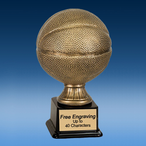 Antique Gold Basketball Resin