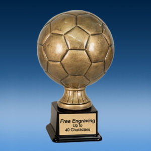Antique Gold Soccer Resin