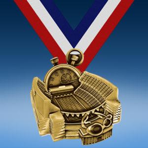 Swimming Stadium Medal