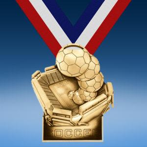 Soccer Stadium Award Medal