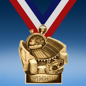 Swimming Stadium Award Medal