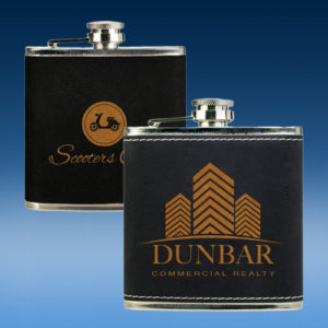 Black Leather Flask-0