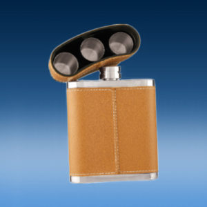 Brown Leather Flask Kit-0