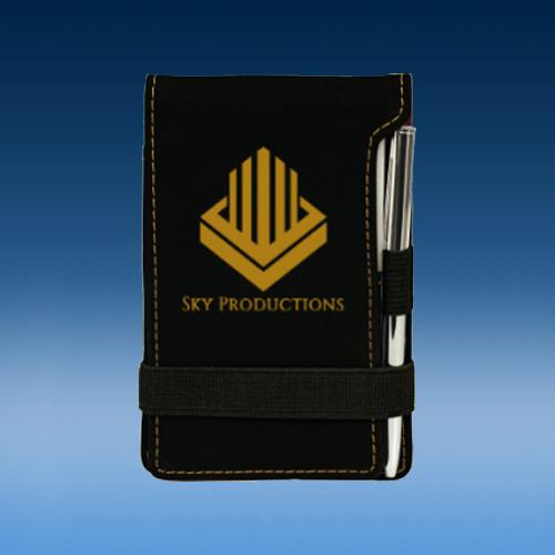 Black Leatherette Pen/Pad Set