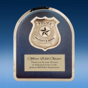 Police Blue Hero Plaque