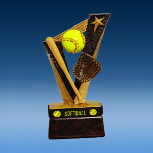 Softball TrophyBand Resin