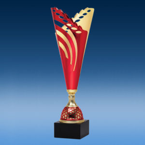 Red Gold Wreath Cup -0