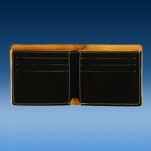 Black Leatherette Bifold Wallet