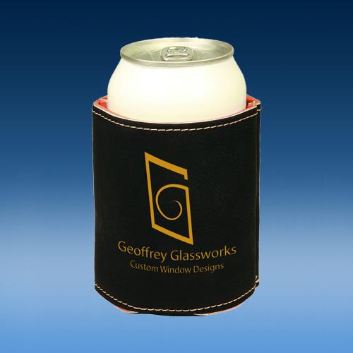 Black Leatherette Full Bottom Beverage Holder
