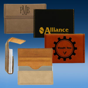 Leatherette Hard Business Card Holder