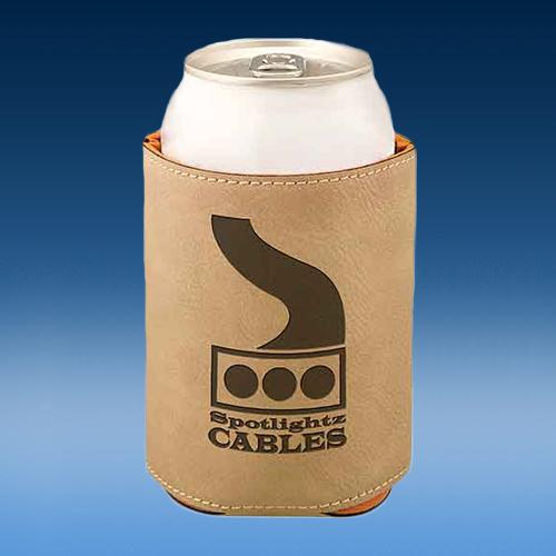 Light Brown Leatherette Full Bottom Beverage Holder