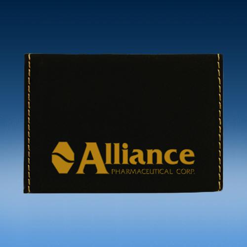 Black Leatherette Hard Business Card Holder
